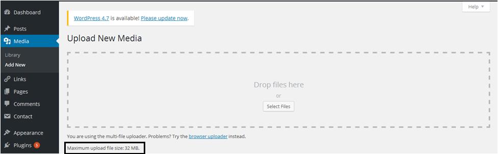 Maximum File UPload Limit